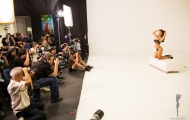 Attendees shooting Jaclyn Swedberg, Playboy's 2012 Playmate of the Year