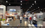 Setup day at NAB Show day before opening