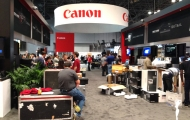 Canon booth before show opening