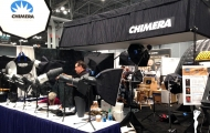 Chimera booth before show opening