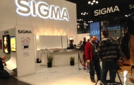 Sigma booth before show opening